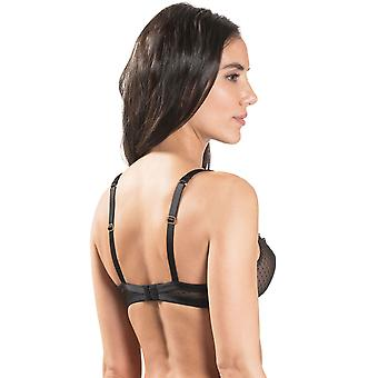 Aubade MI15 Women's Femme Passion Black Embroidered Underwired 3/4 Demi Cup Bra