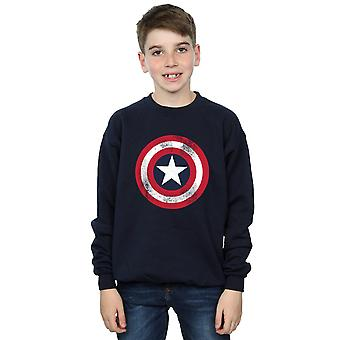 Marvel Boys Captain America Distressed Shield Sweatshirt