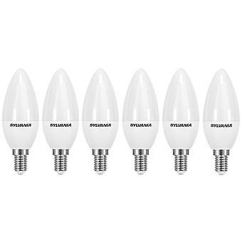 6 x Sylvania ToLEDo bougie E14 V3 5.5W Homelight LED 470lm [classe énergétique A +]