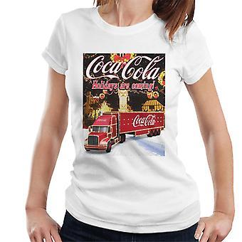 Coca Cola Truck kerst markt Women's T-Shirt