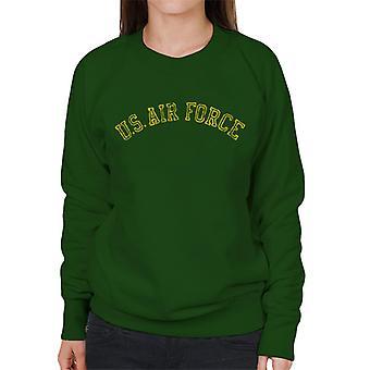 US Airforce utbildning gul Text nödställda kvinnors tröja