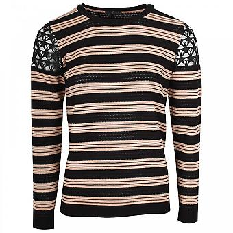 Leo & Ugo Gestreepte Jumper met Star Shoulder Detail