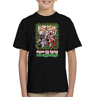 Grand Theft Auto Drive By Home For Christmas Kid's T-Shirt
