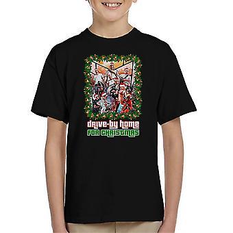 Grand Theft Auto auto di casa per t-shirt natale bambini