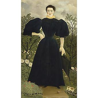 Retrato de uma mulher, Henri Rousseau, 80x40cm