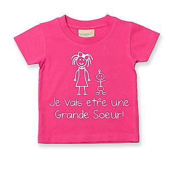 أنا ذاهب لتكون بالأخت الكبرى الفرنسية التي شيرت Je سوف ترى Soeur غراندي
