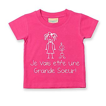Estoy va a ser una hermana francesa camiseta Je Vais tre Grande Soeur