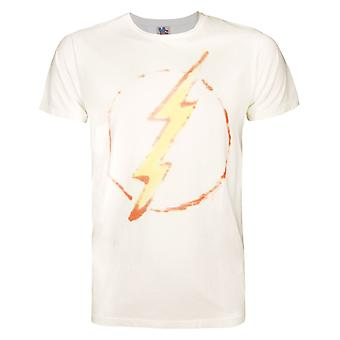 Junk Food Flash Thunderbolt Men's T-Shirt White