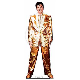 Elvis Presley Lifesize Papp Cutout / Standee - Gull Lame Tuxedo / Dress