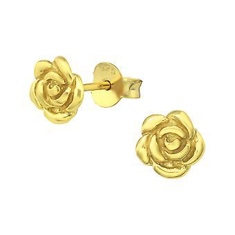 Rosa - zarcillos llano de plata esterlina 925 - W14799X