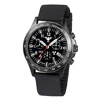 KHS horloges mens watch zwarte peloton titanium chronograaf KHS. BPTC. SB