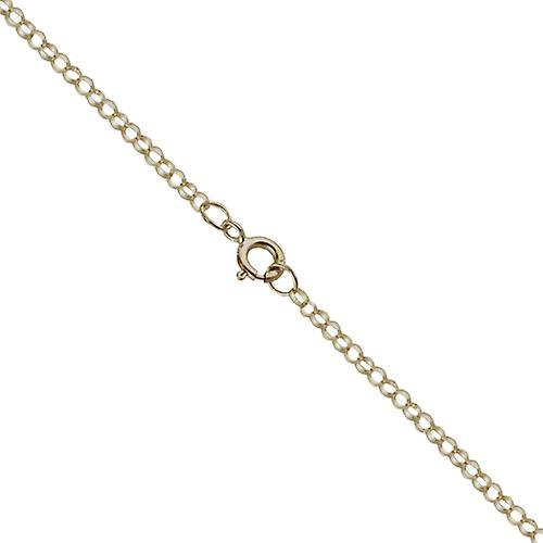 9ct Gold 18x12mm plain rectangular Disc with belcher Chain 20 inches