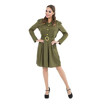 Orion Costumes Womens World War 2 Khaki Army Uniform 1940s Fancy Dress Costume