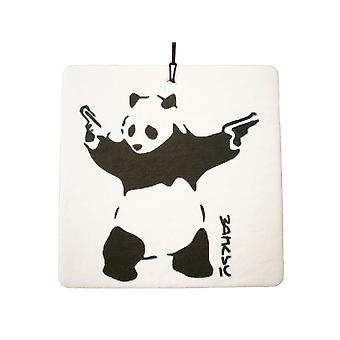 Banksy Panda With Guns Car Air Freshener