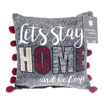 Country Club Sentiments Mini Cushion, Home and Cosy