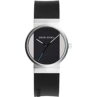 Relógio feminino quartzo de Jacob Jensen analógico com pulseira de borracha 722s