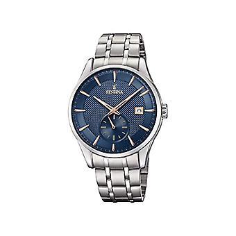 Relógio analógico de quartzo de Mens Festina com banda de aço inoxidável F20276/2