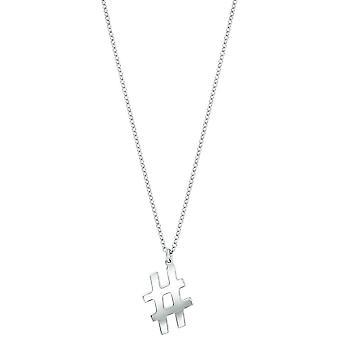 Bella Hashtag Pendant - Silver
