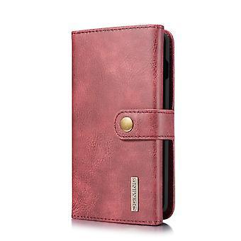 Dg. MING Samsung Galaxy S10 Split leather wallet Case-red