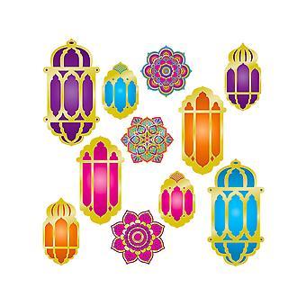 Los recortes de foil Lantern & Mandala