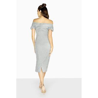 Little Mistress Womens/Ladies Emilia Geometric Bardot Dress