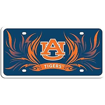 Auburn Tigers NCAA Flame License Plate