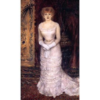 Portrait of the Actress Jeanne, Pierre-Auguste Renoir, 60x35cm