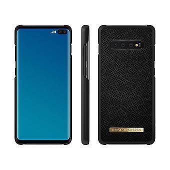 iDeal de Suecia Samsung Galaxy S10 + Saffiano Shell-Negro