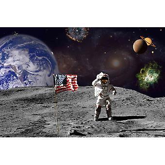 Fondo de pantalla Mural Moon