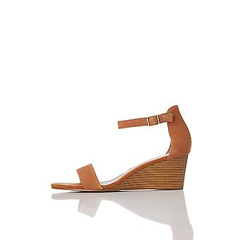 Amazon Brand - find. Women's Leather Wedge Heel Sandal Shoes