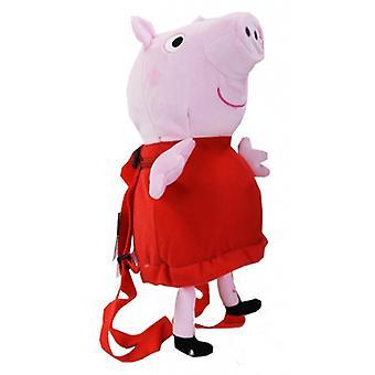Plush Backpack - Peppa Pig - 12