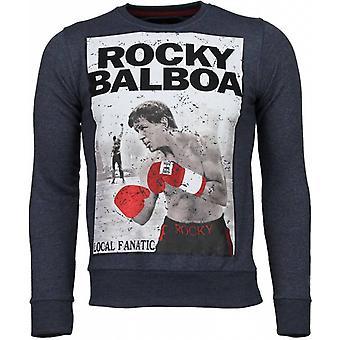 Rocky Balboa-tekojalokivi pusero-sininen