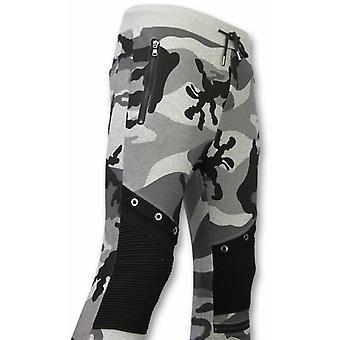 Camouflage Pants-Casual Jogging pants-Camouflage Biker-Grey