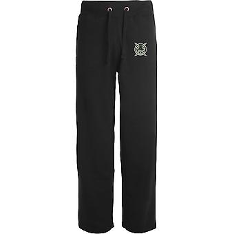 Lowland Band of The Scottish-licenciado British Army bordados abertos hem Sweatpants/jogging Bottoms
