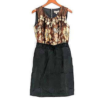 Kelly por Clinton Kelly vestido floral print sem mangas Brown A218739