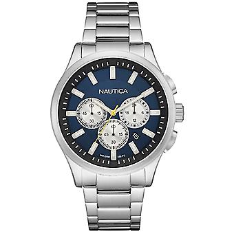 Nautica nct-17 Quartz Analog Man Watch with NAI19533G Stainless Steel Bracelet