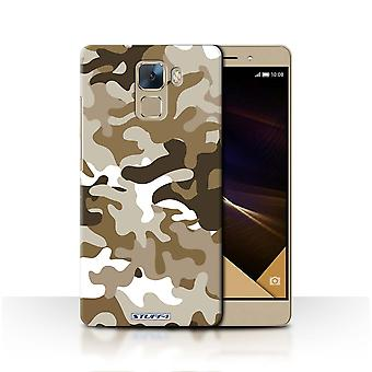 STUFF4 Case/Cover for Huawei Honor 7/Brown 1/Camouflage Army Navy