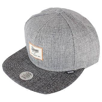 Djinns 6 Panel Jute Mix Snapback Cap - Grey