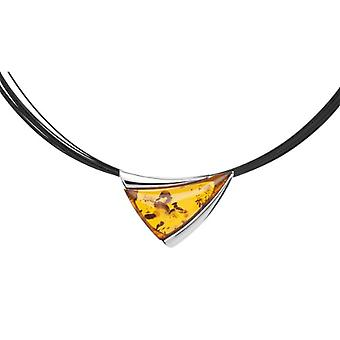 InCollections 11203543100 - Chain with women's pendant with amber - silver sterling 925 - 450 mm