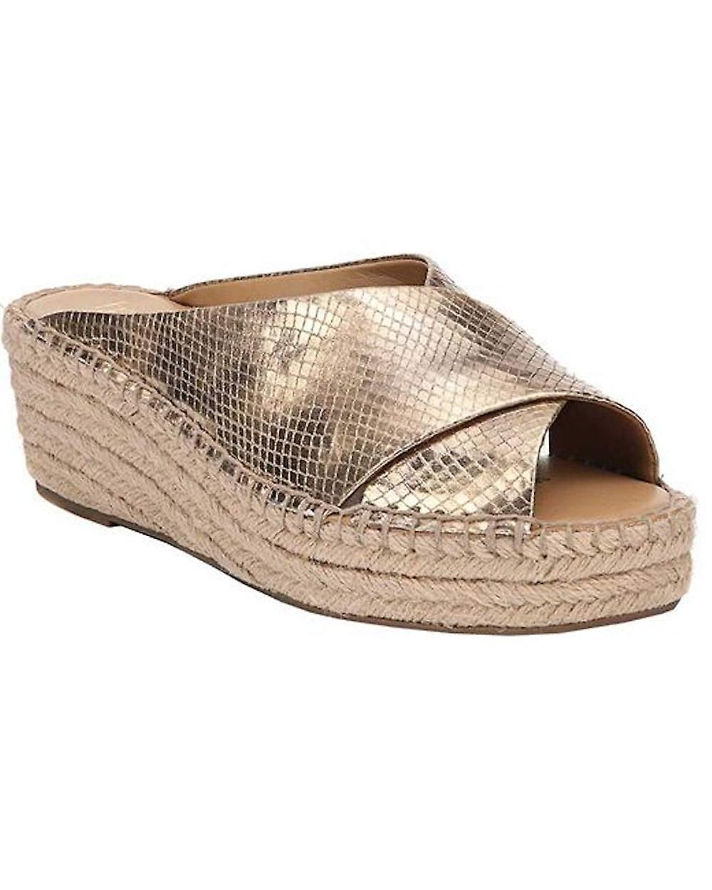 Franco Sarto Kobiety L-Polina Fabric Peep Toe Casual Platform Sandały YXgoe