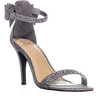 Material Girl Womens MBEVERLY Open Toe Special Occasion Ankle Strap Sandals