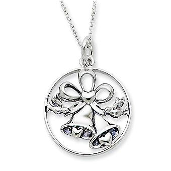 925 Sterling Silver Spring Ring Wedding Day Bliss 18inch Necklace Jewelry Gifts for Women
