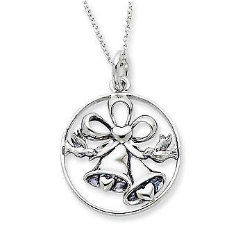 925 Sterling Silver Spring Ring Rhodium vergulde finish Wedding Day Bliss 18inch ketting sieraden geschenken voor vrouwen
