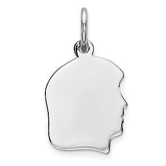925 sterling sølv polert flat tilbake graverbar graverbar gutt plate sjarm anheng halskjede smykker gaver til kvinner