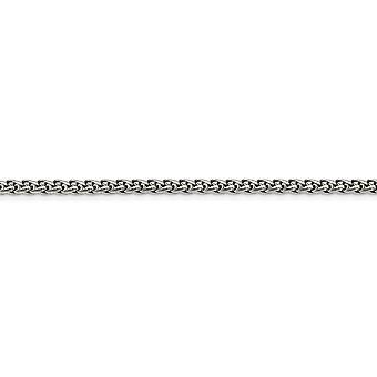 Rustfrit stål poleret Fancy Hummer Lukning 5.0mm Hvede Chain halskæde smykker gaver til kvinder - Længde: 20 til 24