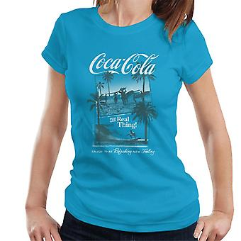 Coca Cola Surfers The Real Thing Women's T-Shirt