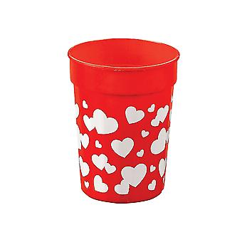 SALE - 12 Heart Plastic Cups for Party Bags | Kids Party Cups