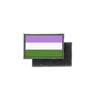Patch ecusson imprime badge drapeau genderqueer transgenre lgbt