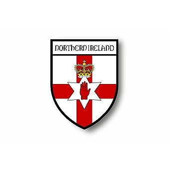 Sticker Sticker Sticker Motorcycle Car Blason City Flag Northern Ireland