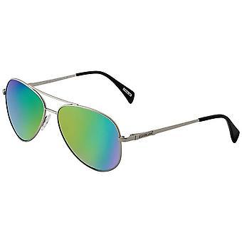 Dirty Dog Maverick Mirror Sunglasses - Silver/Green